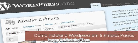 Como Instalar o WordPress em 5 Minutos