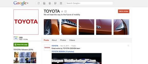 paginas google+