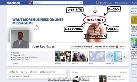 facebook imagem de perfil